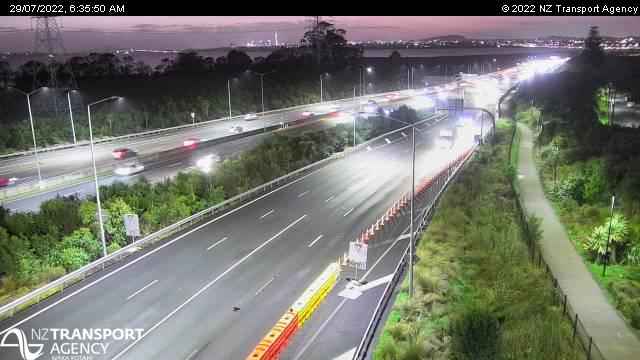 NW3 Te Atatu off ramp looking east