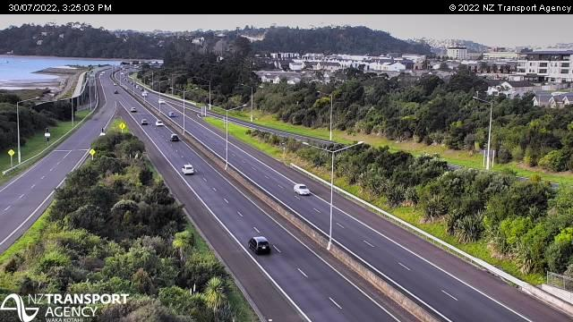 S2 Southern Motorway at Newmarket looking south